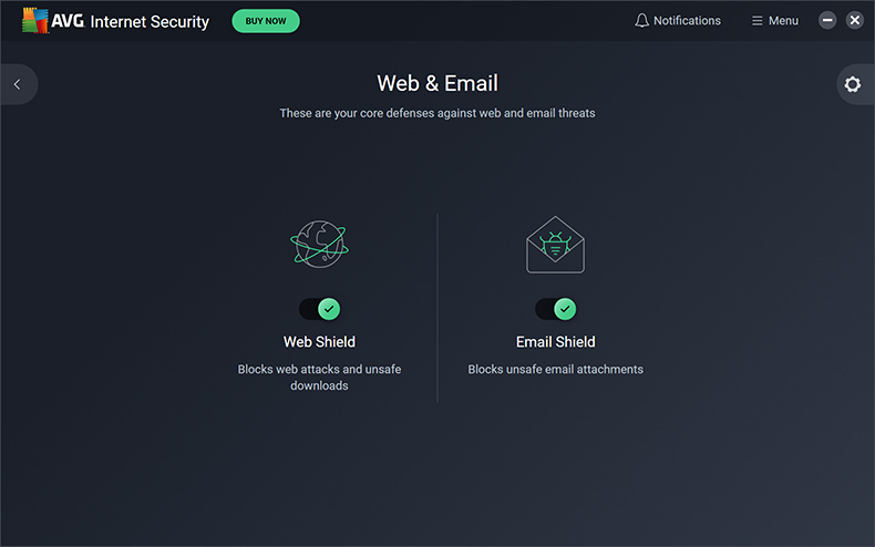 AVG Internet Security - Web en e-mail