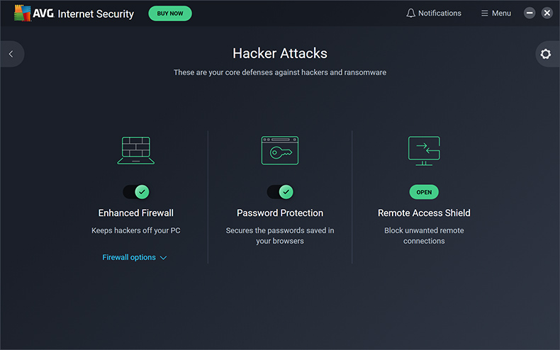 AVG Internet Security - Aanvallen door hackers