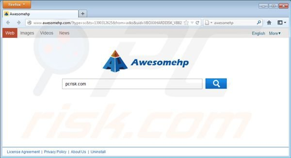 Awesomehp.com virus