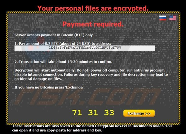 citroni ransomware payment page