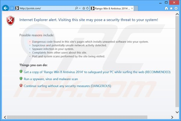 rango win8 antivirus 2014 blokkeert Internet browsers