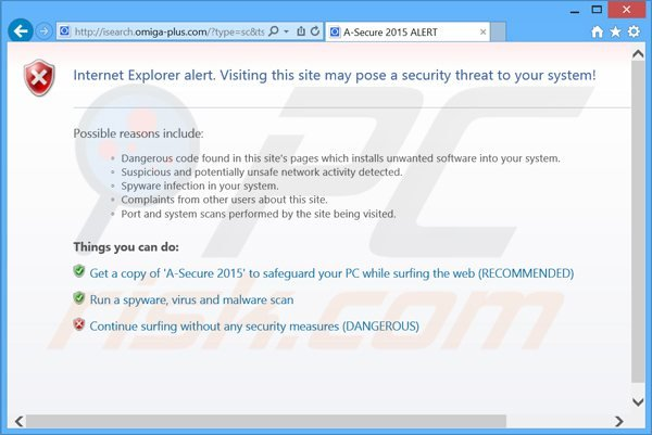a-secure 2015 valse antivirus blokkeert de toegang tot internet blocking Internet access