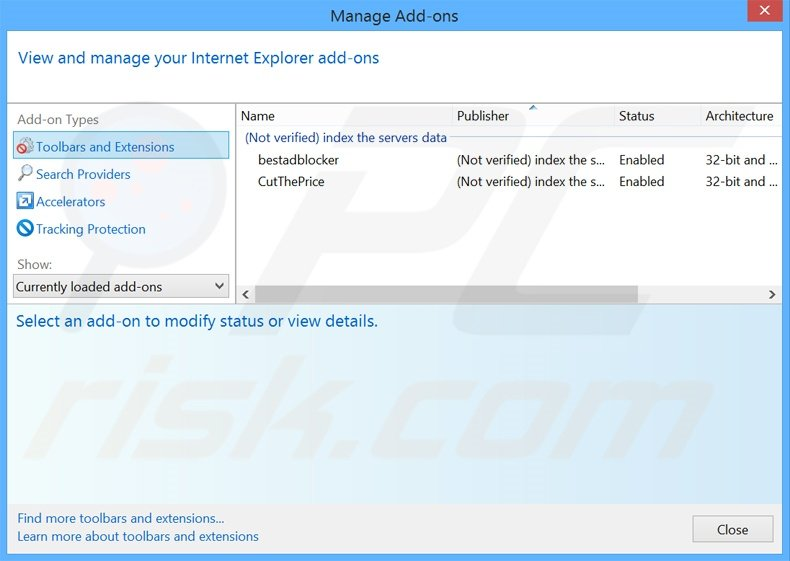Removing search.myway.com related Internet Explorer extensions