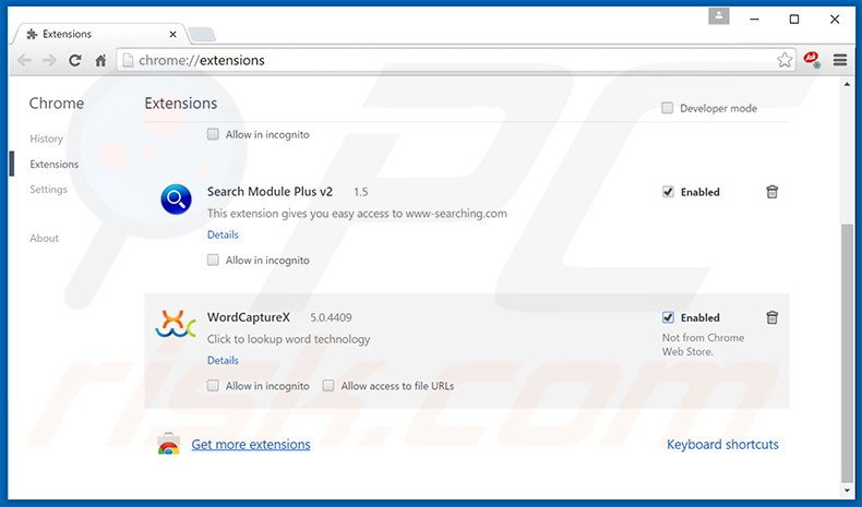 Verwijder de Browsing Secure advertenties uit Google Chrome stap 2