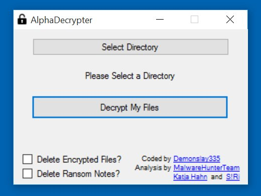 encrypted ransomware decryptie tool