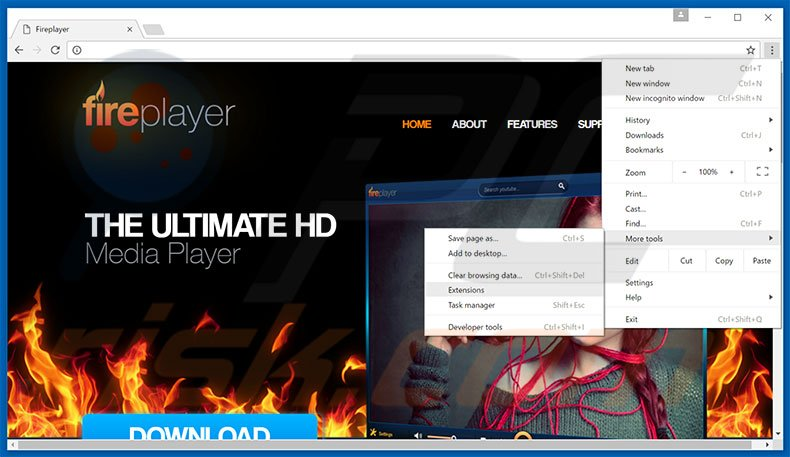 Verwijdering FirePlayer  ads uit Google Chrome stap 1