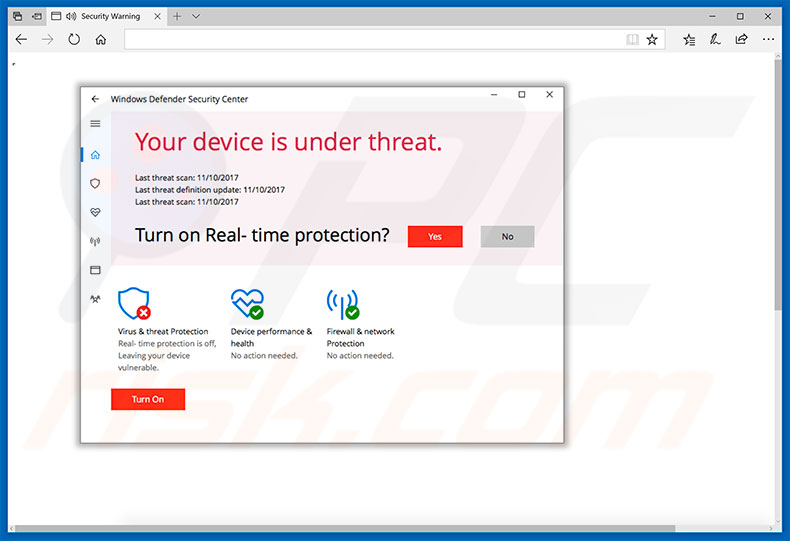Your Device Is Under Threat adware