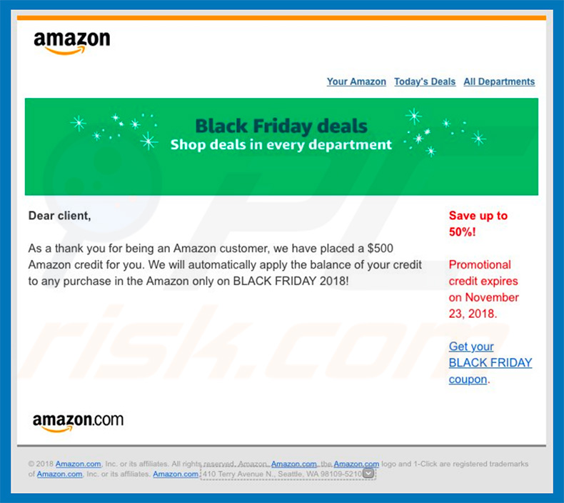 Amazon email virus spamcampagne