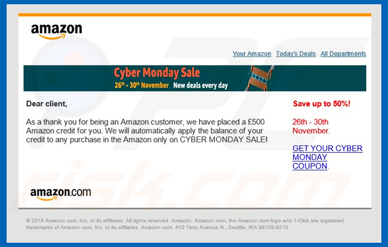 Amazon Email Virus email
