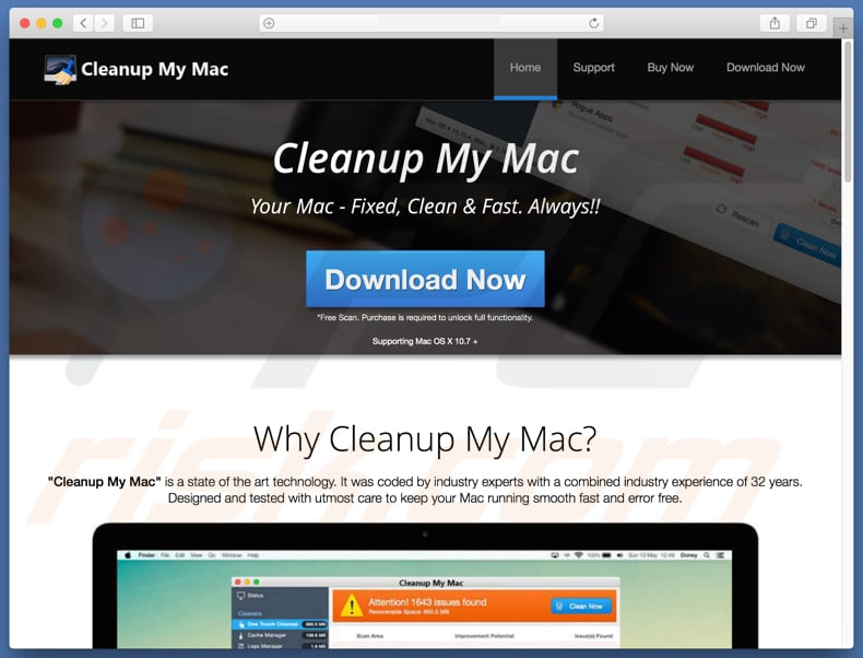 Cleanup My Mac oplichting