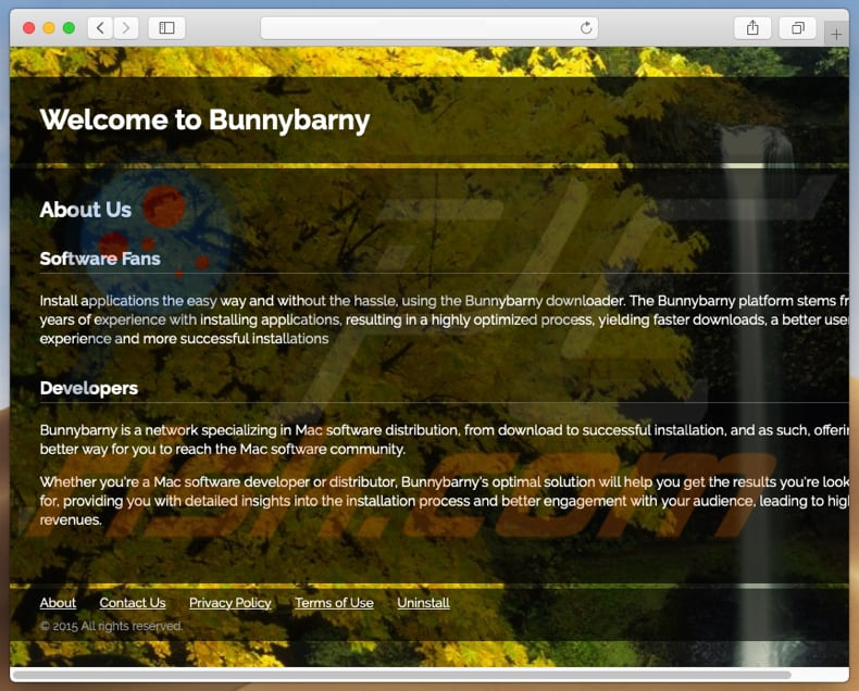 Dubieuze website promoot search.bunnybarny.com