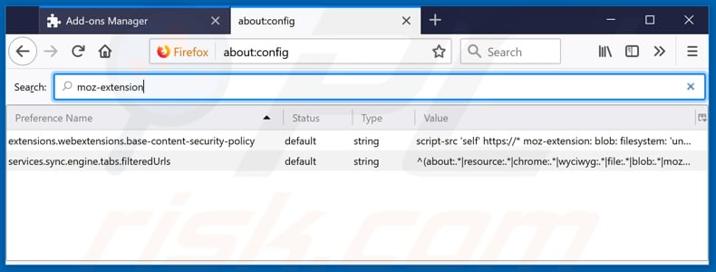 Removing speedtestace.co from Mozilla Firefox default search engine