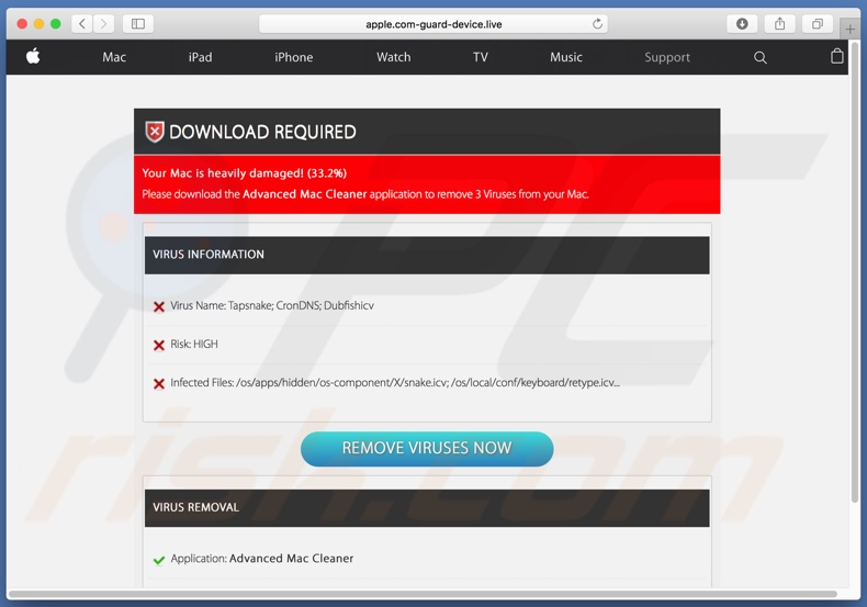Apple.com-guard-device[.]live scanresultaten