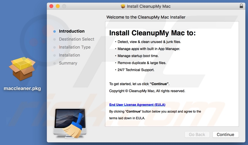 Cleanup My Mac installatie