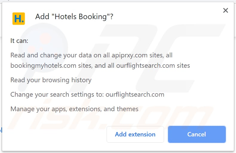 Hotels Booking wil toestemming op Chrome