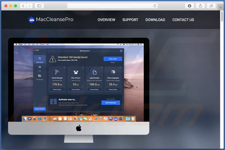 MacCleansePro download website