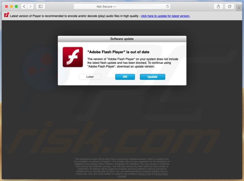 adobe-flash-player-is-verouderd oplichtingspagina