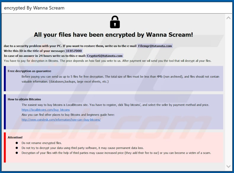 WannaScream decryptie instructies (WannaScream.hta)