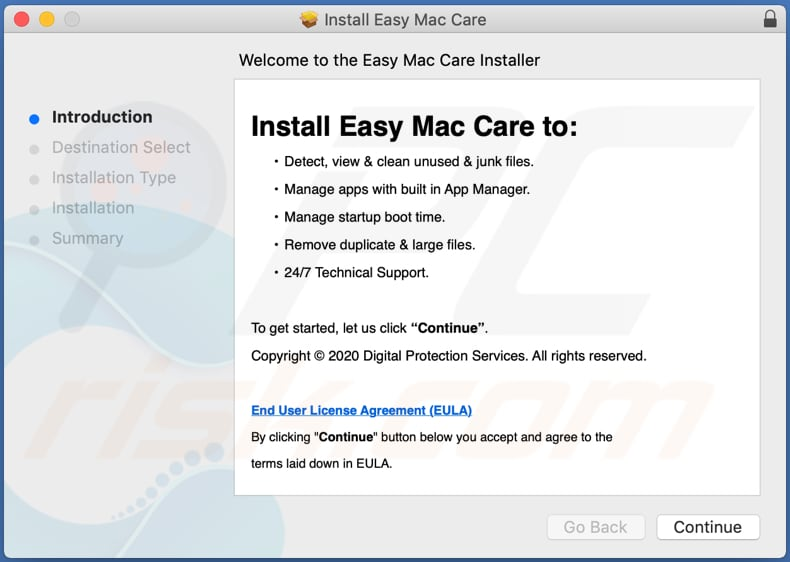 easy mac care installatie