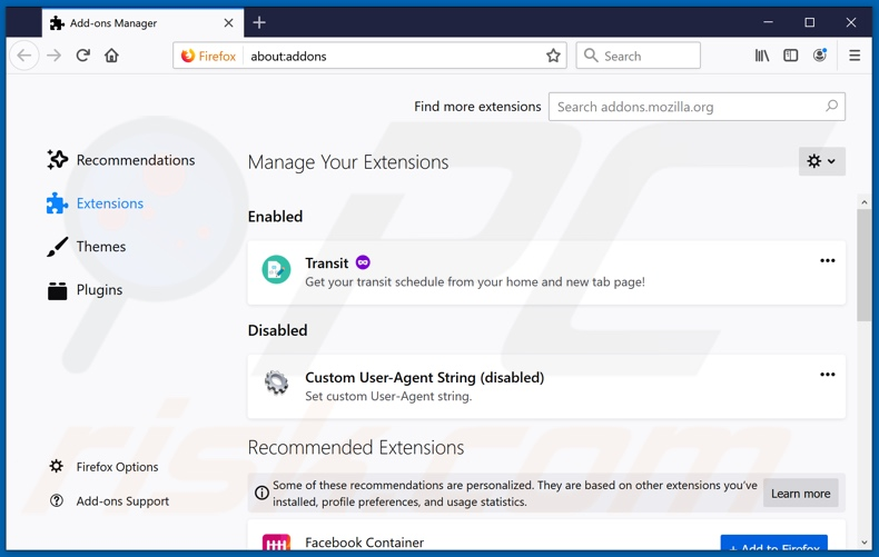 Removing feed.sealoid.com related Mozilla Firefox extensions