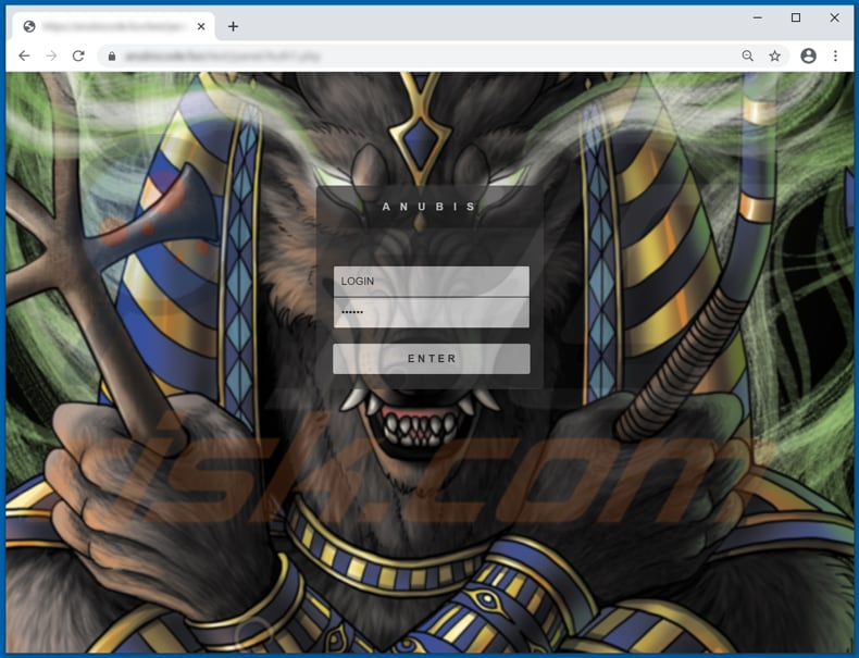 anubis stealer admin panel login