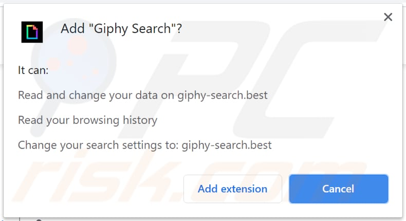 giphy search adware notification