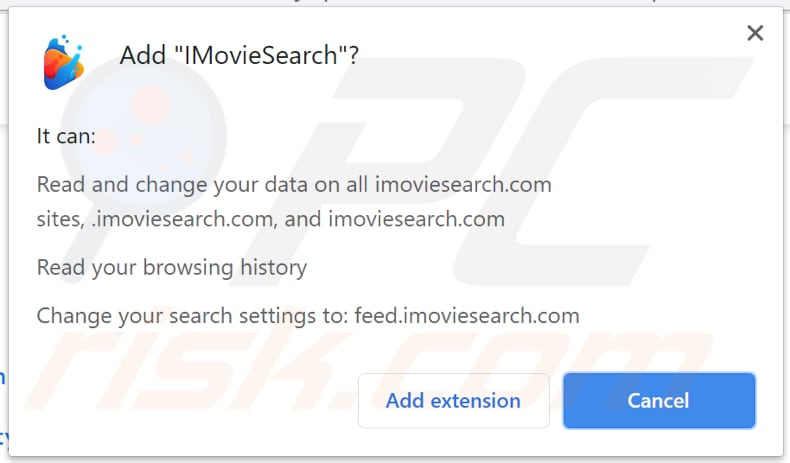 imoviesearch browser hijacker notification
