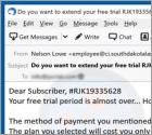 "Oplichting via e-mail ""Your Free Trial Period is Almost Over"""